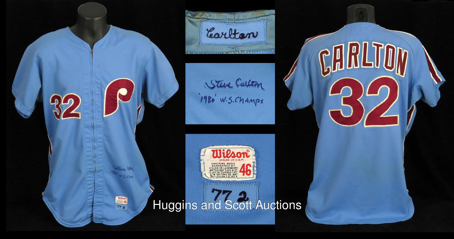 Steve Carlton Signed Game-Worn 1977 Philadelphia Phillies Road ... 192e9f3eca2