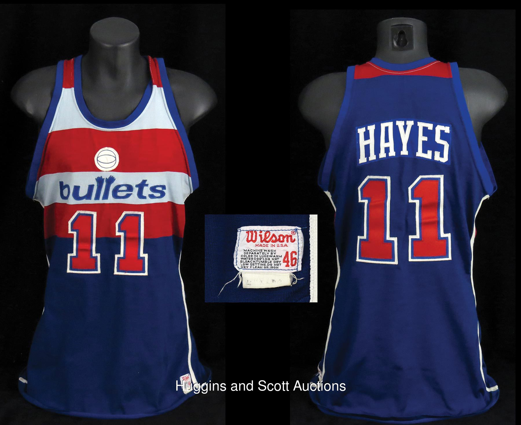 Elvin Hayes 1980 81 Washington Bullets Game Worn Road Jersey